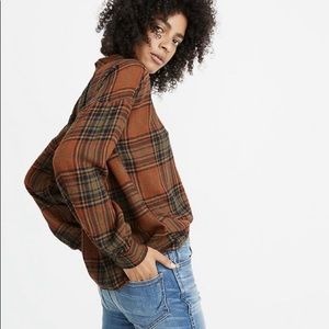 Madewell plaid top size S